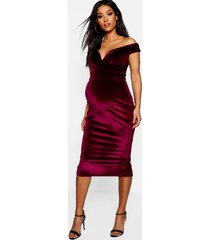 maternity velvet sweetheart off the shoulder dress, wine