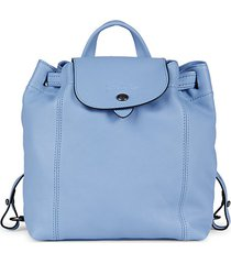 le pliage cuir leather backpack