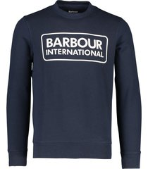 barbour sweater logo donkerblauw