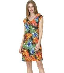vestido c/v estampado naranja bous