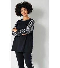 sweatshirt angel of style zwart::wit