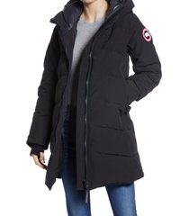 women's canada goose merritt down parka, size medium - black