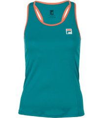 camiseta regata com proteção uv fila core - feminina - petroleo