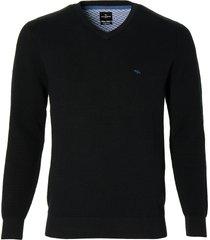 jac hensen pullover - modern fit - zwart