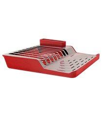 escorredor de pratos minimal - linha pia 36,8 x 35,35 x 9,8 cm brinox