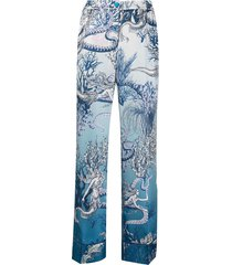 f.r.s for restless sleepers underwater-print high-waisted trousers -