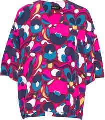 alppi pilvipuutarha shirt blouses short-sleeved multi/patroon marimekko