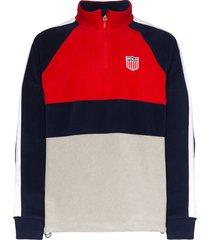 polo ralph lauren fleece logo sweater - red