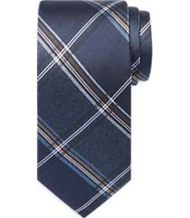 awearness kenneth cole blue plaid narrow tie
