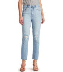 sam edelman stiletto distressed straight-leg jeans
