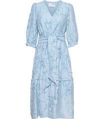 slfsadie 3/4 midi dress b dresses everyday dresses blå selected femme