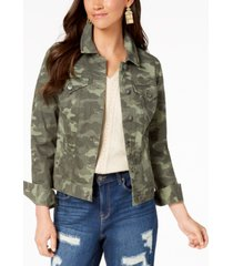 style & co. denim jacket, in regular and petite, created for macy's