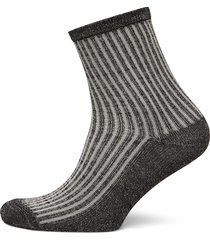 dean summer stripe lingerie socks regular socks grå becksöndergaard