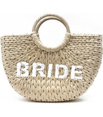 btb los angeles the bride tote - beige