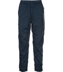 stone island loose fit track trousers - blue