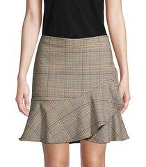 plaid-print mini skirt