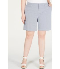 tommy hilfiger plus size hollywood chino shorts, created for macy's