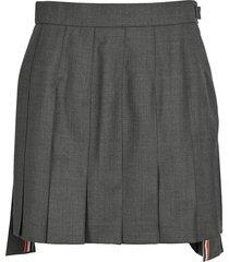 thom browne mini dropped back pleated skirt