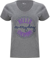 camiseta descanso everyday color gris, talla l
