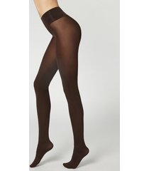 calzedonia 50-denier opaque seamless invisible tights woman brown size 1/2