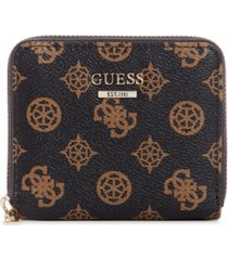 guess sandrine small logo zip around wallet
