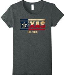 republic of texas 1836 t-shirt home est women