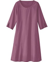 glad gesneden jurk in a-lijn van bio-katoen, hortensia 36