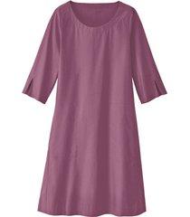 glad gesneden jurk in a-lijn van bio-katoen, hortensia 38