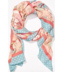 loft floral dot square scarf