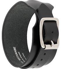 junya watanabe buckle leather bracelet - black