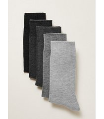 mens grey assorted gray socks 5 pack