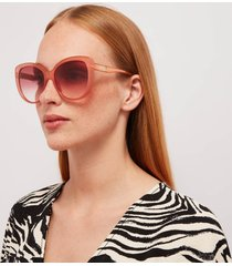 gucci women's cat eye sunglasses - pink/red