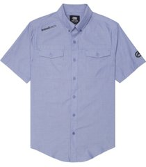 ecko unltd men's branded chambray woven shirt