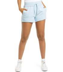 women's bp. french terry shorts, size small - blue