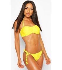 basic bandeau bikini, yellow