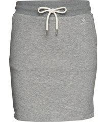 d1. gant lock up sweat skirt kort kjol grå gant