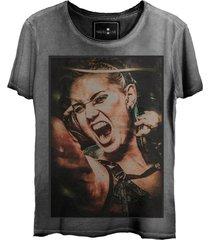 camiseta estonada skull lab  steam punk  cinza - kanui