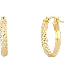 bony levy twisted rope hoop earrings in yellow gold at nordstrom