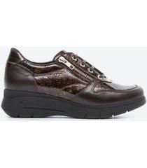 zapato casual mujer freeport z09k café