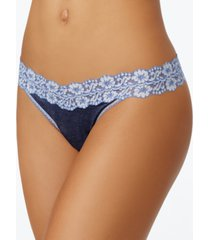 hanky panky heather original-rise floral-lace thong 681801