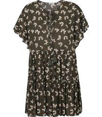 parosh tie-neck floral print dress