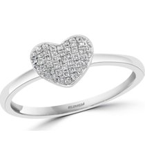 effy diamond pave heart promise ring (1/8 ct. t.w.) in sterling silver