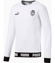 valencia cf football culture sweater voor heren, wit/aucun, maat xs | puma