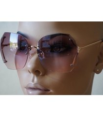 70's vintage retro oversized rimless large square lenses women sunglasses hot