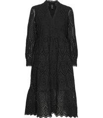 yasholi ls midi dress ft s. knälång klänning svart yas