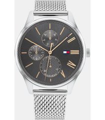 tommy hilfiger men's classic sub-dials watch wi stainless steel mesh bracelet silver -