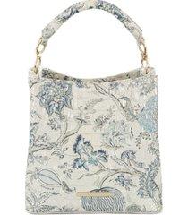 brahmin melbourne embossed leather amelia bucket bag