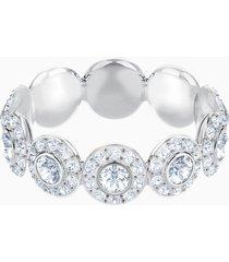 anello angelic, bianco, placcatura rodio