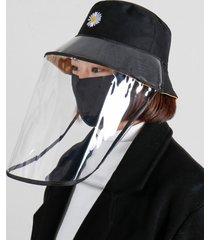 anti-escupir anti polvo sombrero cubierta infección pescador pesca sombrero