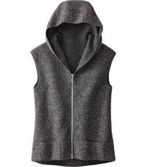 walkstof gilet, antraciet 36/38